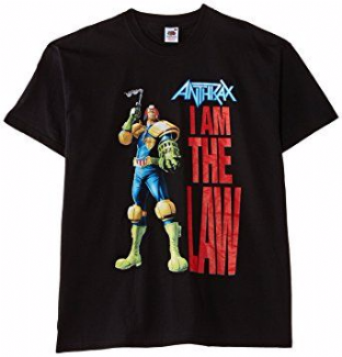 Anthrax I Am The Law - Black T-shirt (S) (Brand New And Sealed)